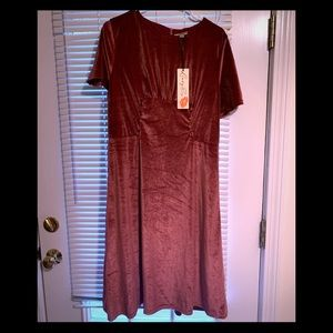 Lindy bop pink velvet dress